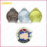 Custom Wholesale Gold Plated Metal Award Karate Medal