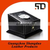 Alibaba Express Gifts Hot Product PU Foldable Leather Desk Clock