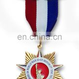 Custom metal medal cheap sports medal with ribbon design your own medal