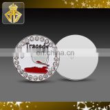 Custom Logo Golf Ball Marker with Crystals