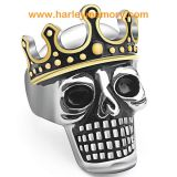 wholesale brand name stainless steel biker skull rings