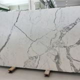 Italy white marble Calacatta marble tiles, bench tops