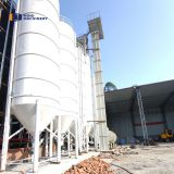 50 ton Galvanized Steel Plate Sectional Piece Type Bulk Cement Storage Silos