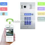 Smart realtime control your home intercome Wifi Video door phone with unlock door on ios &android device for you home security