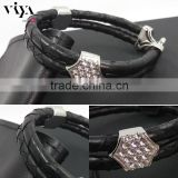 Viya Colorful Leather Bracelet Genuine Stingray/Python Skin Bracelet Jewelry In Stock Hot Sale Men Bracelet
