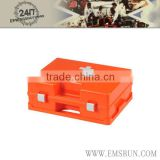 Customized plastic empty first aid kit tool box for kids