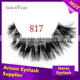 black color private label real siberian mink fur eyelash extensions and horse fur lash, human hair lash, synthetic lash                                                                         Quality Choice