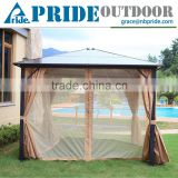 Luxury Villas Square Large Mosquito Net With Modern Outdoor Aluminum Gazebo