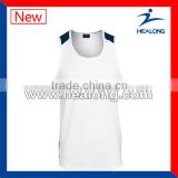 custom made high quality fitness singlets for wholesale vest