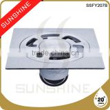 SSFY207B Bathroom and toilet square stainless steel concrete floor drains