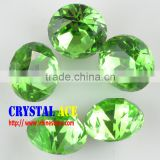 Round Shape Brilliant Facet Nice Crystal Fancy Glass Stones In Bulk For Jewelry