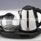 1.8L household/hotel electric kettle sets tea pot and kettle set electric kettle tray sets