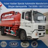 Dongfeng new vacuum sewer suction truck fecal tank truck cleaning car