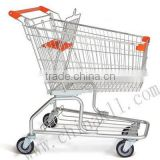 Australian style supermarket shopping trolley for folding