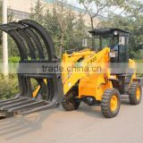 2 ton hydraulic wood loader/ mini wheel loader with log grapple /log grapple wheel loader /log wood loader