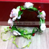 Boho Daisy Festival Wedding Elastic Flower Floral Hair Garland Headband Hairband F1006