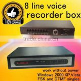 New 8 Line Voice Telephone Recorder/phone chip Recorder cassette Recorder