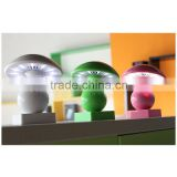 Portable motion sensor bedside music led light lamp