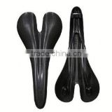 Weight light new product 2016 hot road bicycle or mountain bike carbon fiber saddle synthetic treeless saddle