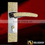 2014 New Product Antique Style Handle Door Lock with Zinc Alloy Plate