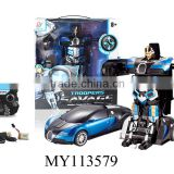 2.4G trans robot toy car remote control car rc robot 2.4g car deformed robot toy remote control 2.4G car rc robot