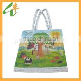 nice pattern cotton net custom made shopping bags
