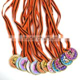 Unique Party Supplies Plastic Laser Halloween Spooktaccular Medals with Assorted Spooky Custom Designs on a Nylon Ribbon