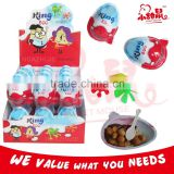 kinder chocolate toy egg candy with biscuit