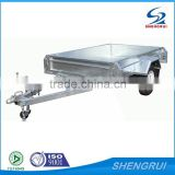 High quality hot dipped galvanzied 7x4 full welded trailer box trailer