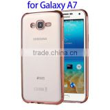 Wholesale Electroplating Soft TPU Cover Case for Galaxy A7, Anti-skidding Back Cover for Samsung A7