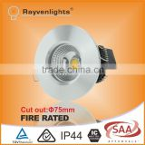 High Brightness Dimmable Fire Rated LED Downlights with CE/ROHS/SAA