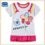 (H6056) 2-6Y Wholesale baby t shirts china made stock lot t shirts dress for kids girls nova clothing