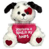 HI EN71 Valentine Fabric Stuffed Dogs