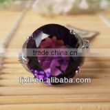 Custom Design Fashionable 925 Sterling Silver Big Amethyst Ring
