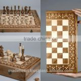"Wooden set ""Chess, checkers, backgammon"""