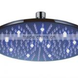 Factory Supplier, flashing shower, led shower head, overhead shower, brass top shower head, round shower head with light