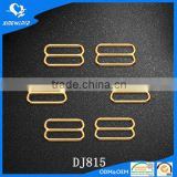 Bra strap accessory gold metal slider buckle 15mm
