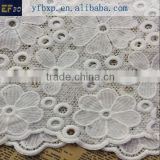Sun Flower embroidery design white french lace wedding dress fabric/ french design guipure nigeian lace for bridal 2015