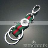 Hot Selling HPK201 Promotional Fabric Alloy Carabiner Keychain