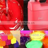 manufacture factory high tinting power resin fluorescent peachblow pigment for fabric printing 8008
