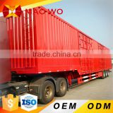 2016 hot sale tri axle dry food transport van type box semi trailer for sale                                                                                         Most Popular