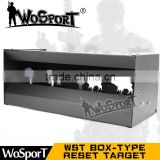 WoSporT WST box-type reset shooting target outdoor indoor durable harmless steel archery airsoft gun BB bullet training target