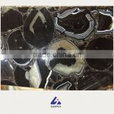 Black onyx gem slabs stone with goup-buying price