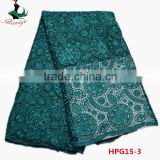 cord embroidery dress lace factory direct guipure lace fabric in green HPG15