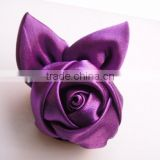 Decorative Polyester Handmade satin ribbon flowers and bows artificial flower for dress flower ribbon