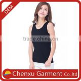 95% cotton 5% spandex tank top china custom tank tops pictures of girls cotton tops plain black tank tops lades top