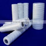 bleached cotton wound filter cartridge for chemical industry,pp string wound filter cartridge