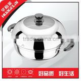 Stainless Steel Multi-functional Steamer Pot (induction available),26cm,28cm