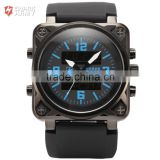 Shark Army Mens Rubber Band Quartz Chrono Analog Military Digital Sport Watch