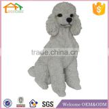 Factory Custom made best home decoration gift polyresin resin poodle dog statues for sale